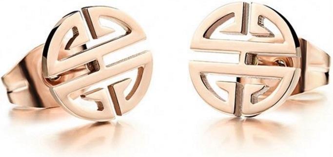 Troli bronzové náušnice z ocele v tvare ornamentu SW-ES083