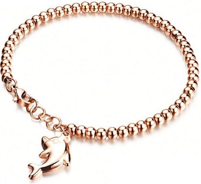 Troli Bronzový náramek Delfín TO1683