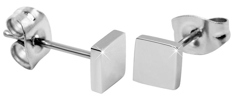 Troli štvorcové náušnice z ocele SW-ES101 silver