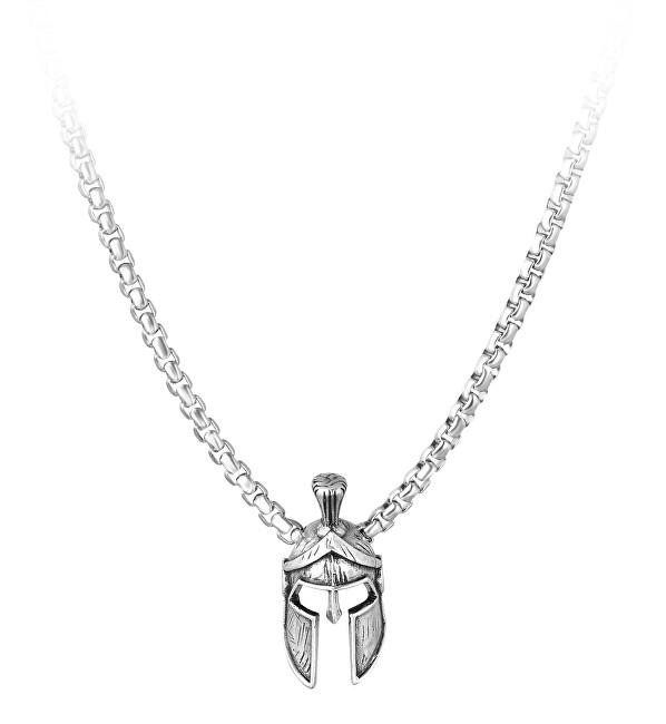 Troli Dizajnový pánsky náhrdelník s rytiersku prilbou
