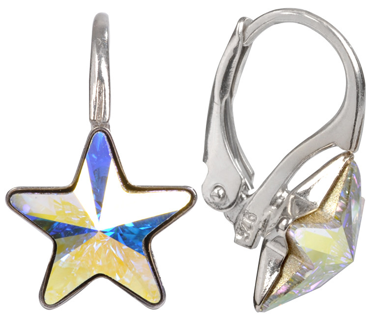 Troli náušnice dívčí Star Crystal AB E474510KLAgRhCrystalAB
