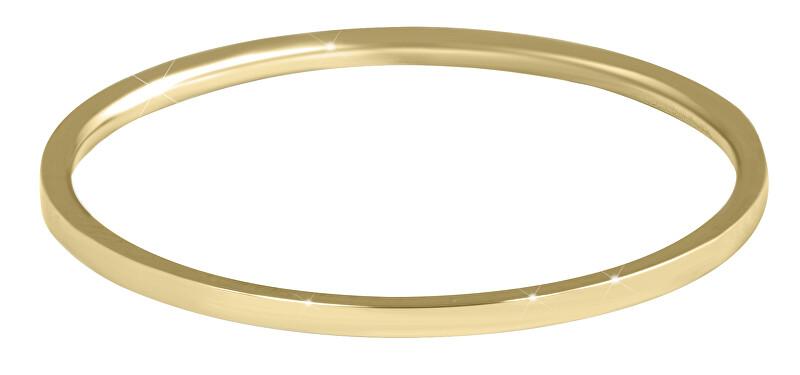 Troli Elegantný minimalistický prsteň z ocele Gold 50 mm