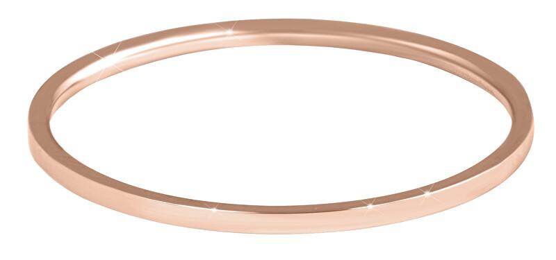 Troli Elegantný minimalistický prsteň z ocele Rose Gold 52 mm