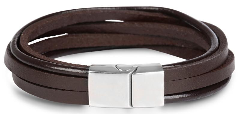 Troli hnedý kožený náramok Leather SW-BL096