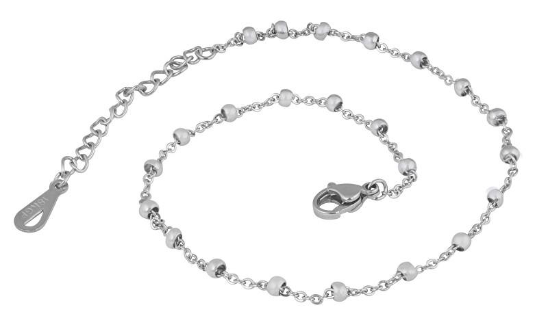 Troli Jemná retiazka na nohu z ocele Globe Silver