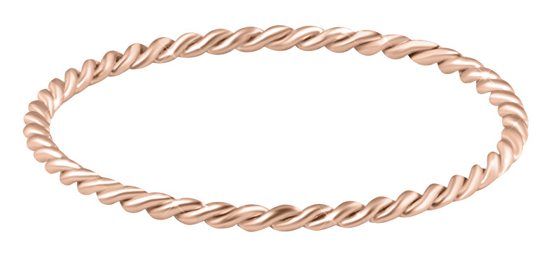 Troli Minimalistický pozlátený prsteň z ocele Rose Gold 50 mm