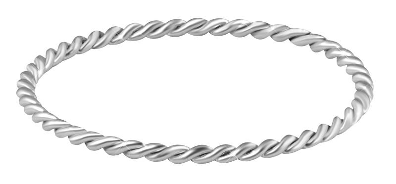 Troli Minimalistický prsteň z ocele Silver 50 mm