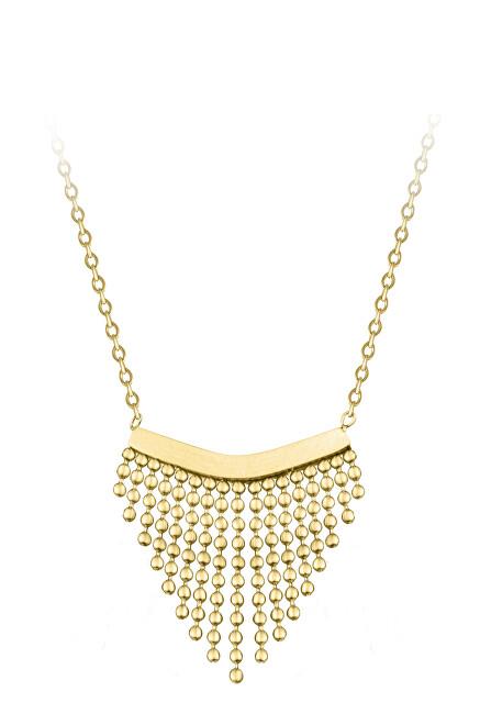 Troli Moderné oceľový náhrdelník s ozdobou Chains Gold