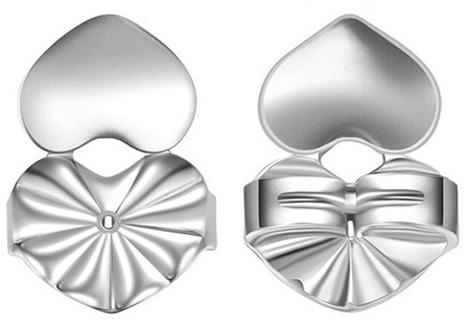 Troli Módní uzávěr na náušnice 2 kusy - 1 pár Silver