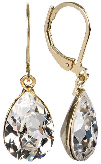 Troli náušnice Pear Crystal E432014KLBZL
