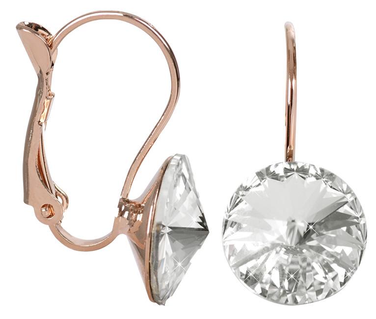 Troli náušnice Rivoli Crystal bronzovej E112212KLRG Crystal