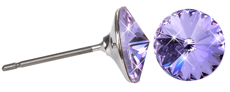 Troli Náušnice Rivoli 8 mm Violet