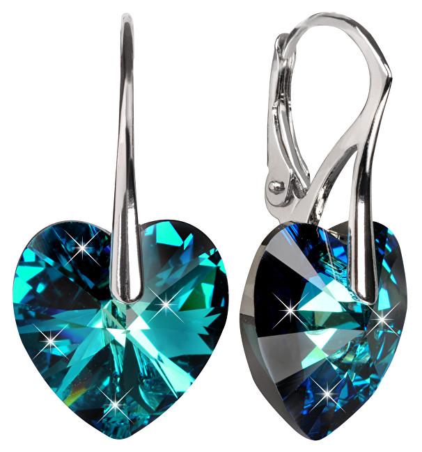Troli náušnice Srdce Bermuda Blue E622814N8RHBermudaBlue