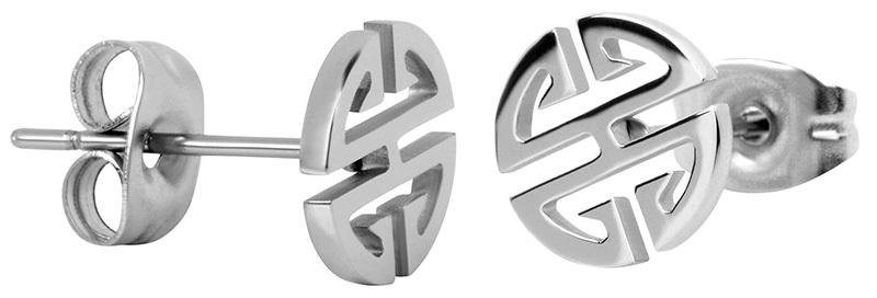 Troli oceľové náušnice z ocele v tvare ornamentu SW-ES083