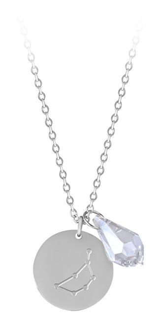 Troli Oceľový náhrdelník Panna sa zirkónom (retiazka, 2x prívesok)