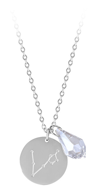 Troli Oceľový náhrdelník Ryby sa zirkónom (retiazka, 2x prívesok)