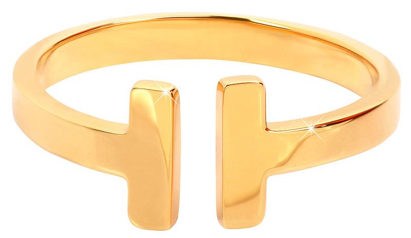 Troli Otvorený pozlátený prsteň z ocele 54 mm