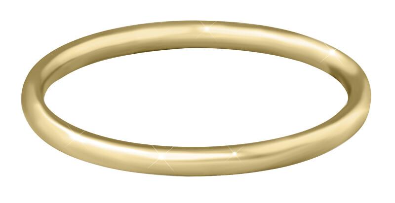 Troli Pozlátený minimalistický prsteň z ocele Gold 50 mm