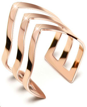 Troli Trojitý bronzový prsteň z ocele
