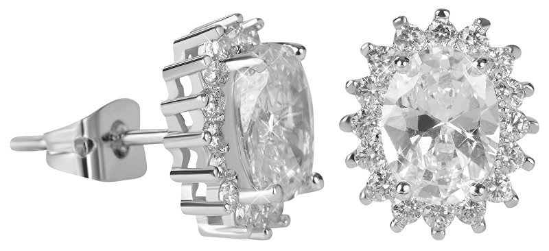 Troli trblietavé náušnice s čírymi kryštálmi KEC-027 crystal