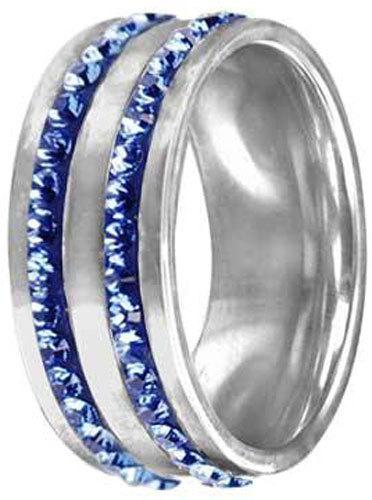 Tribal Prsten RSSW08 sapphire s krystaly Swarovski Elements
