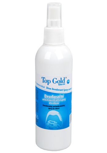Chemek TopGold - dezodoračné antimikrobiálne sprej do obuvi 150 g