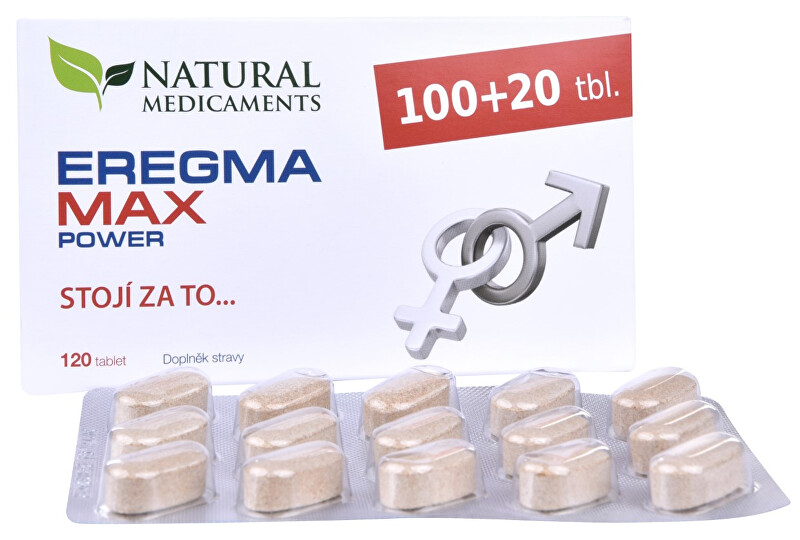 Natural Medicaments Eregma MAX power 100 tbl.  20 tbl. ZDARMA