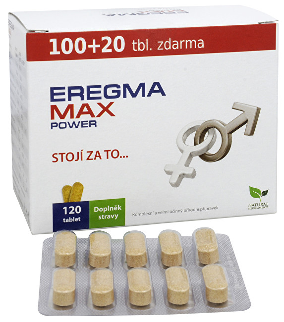 Natural Medicaments Eregma MAX power 100 tbl. + 20 TBL. ZADARMO