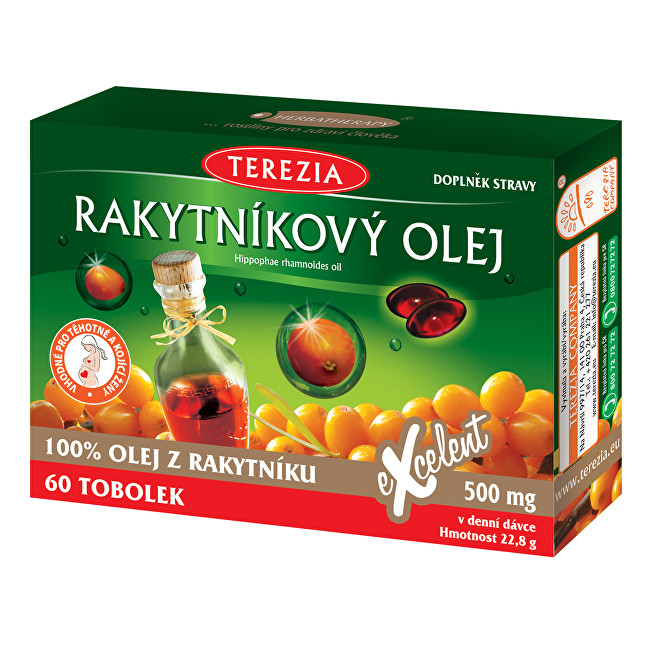 100% Rakytníkový olej 50 tob. + 10 tob. ZDARMA