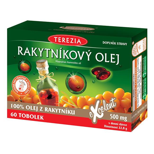 Fotografie Terezia Company Rakytníkový olej 100% 50 + 10 tobolek zdarma
