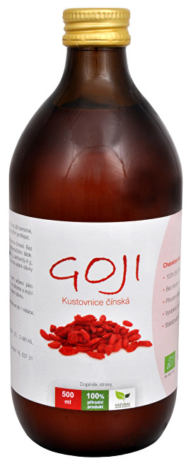 Natural Medicaments Goji Kustovnica čínska - 100% Bio šťava 500 ml