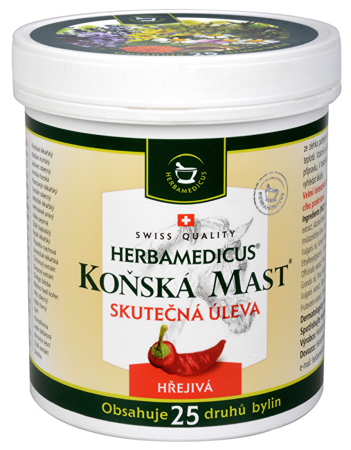 Zobrazit detail výrobku Herbamedicus Koňská mast hřejivá 250 ml