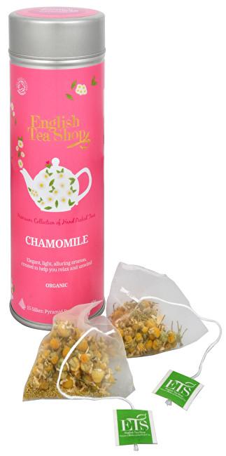 Zobrazit detail výrobku English Tea Shop Čistý heřmánek 15 pyramidek sypaného čaje v plechovce