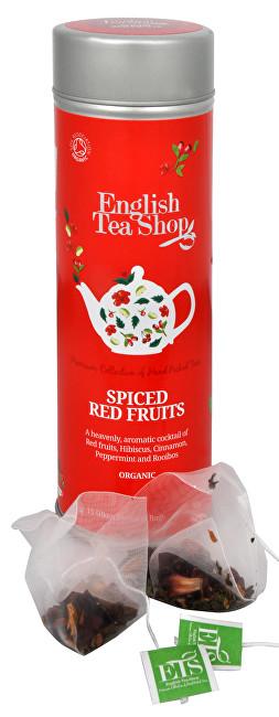 Zobrazit detail výrobku English Tea Shop Kořeněné červené ovoce BIO 15 pyramidek v plechovce