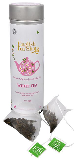 Zobrazit detail výrobku English Tea Shop Čistý bílý čaj 15 pyramidek sypaného čaje v plechovce