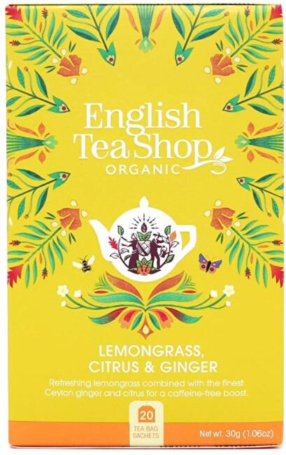 Zobrazit detail výrobku English Tea Shop Citrónová tráva, zázvor & citrusy 20 sáčků