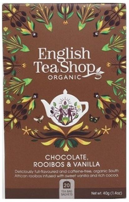 Zobrazit detail výrobku English Tea Shop Rooibos, kakao a vanilka 20 sáčků