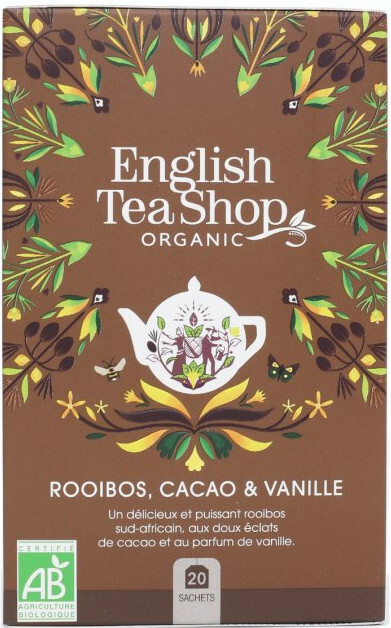 Zobrazit detail výrobku English Tea Shop Rooibos, kakao a vanilka BIO 20 sáčků