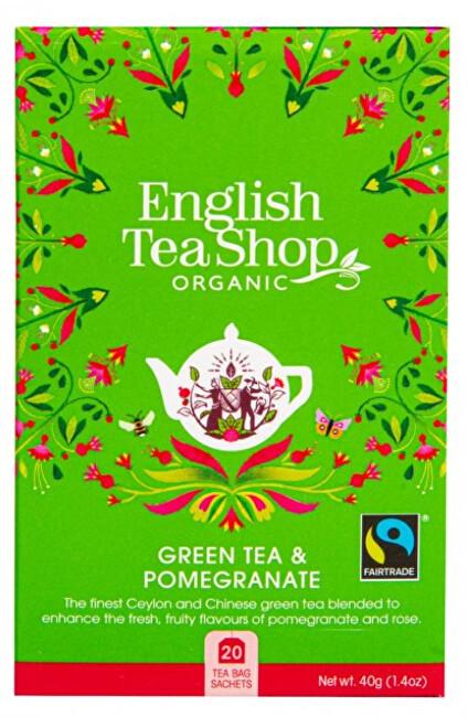 Zelený čaj s granátovým jablkem 20 sáčků