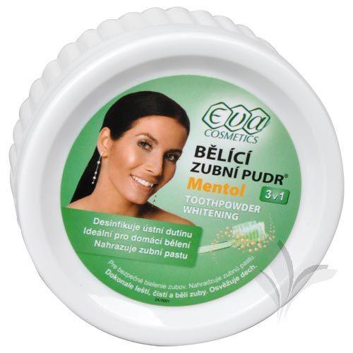 Zobrazit detail výrobku Eva Cosmetics EVA bělící zubní pudr (menthol) 30 g