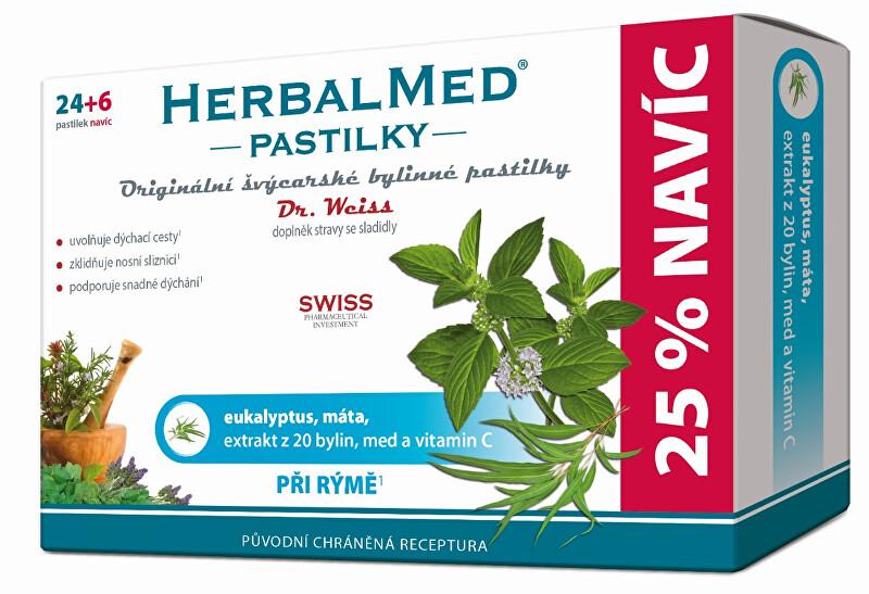Zobrazit detail výrobku Simply You HerbalMed pastilky Dr. Weiss při rýmě 24 pastilek + 6 pastilek ZDARMA