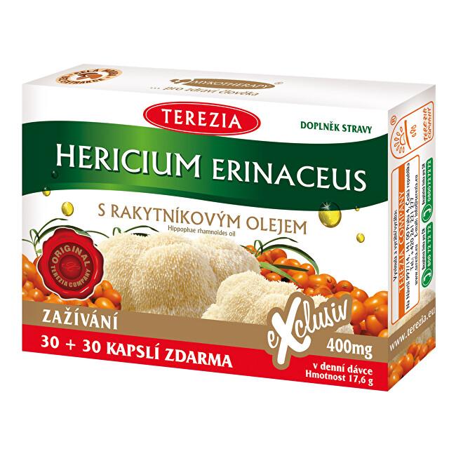 Zobrazit detail výrobku Terezia Company Hericium erinaceus se 100% rakytníkovým olejem 30 kapslí + 30 kapslí ZDARMA