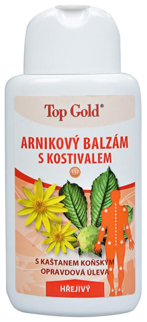 Fotografie TOP GOLD Arnikový balzám s kostivalem-hřejivý 200ml