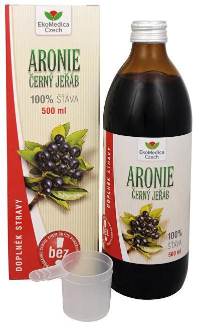 Zobrazit detail výrobku EkoMedica Czech Arónie - 100% šťáva z plodu aronie černoplodé 500 ml