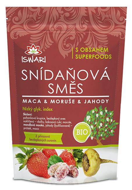 Zobrazit detail výrobku Iswari BIO Snídaňová směs Maca, moruše, jahoda 300 g