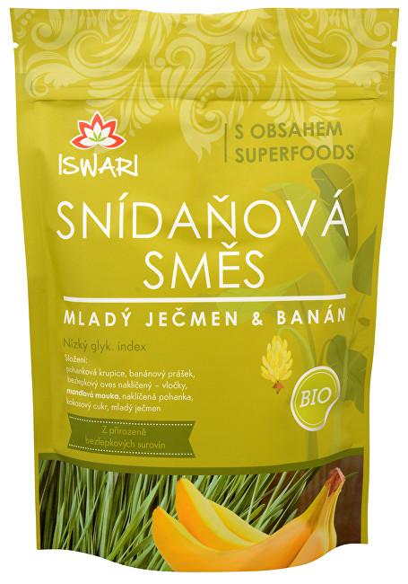 Zobrazit detail výrobku Iswari BIO Snídaňová směs Mladý ječmen, banán, naklíčená pohanka 800 g