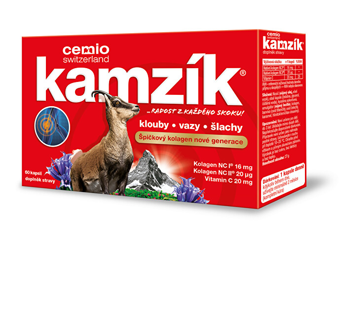 Zobrazit detail výrobku Cemio Kamzík kolagen na klouby 60 kapslí