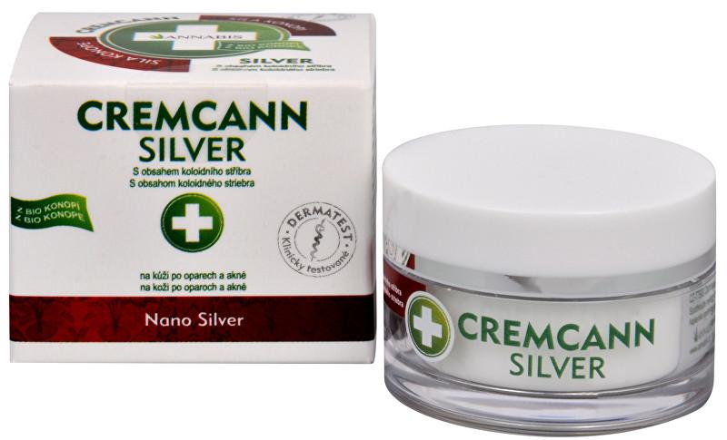 Cremcann Silver - konopný krém na kůži na opary a akné přírodní 15 ml