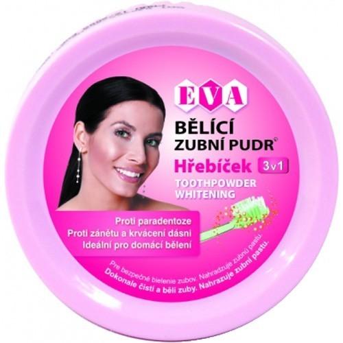 Zobrazit detail výrobku Eva Cosmetics Eva bělící zubní pudr (hřebíček) 3v1 30 g