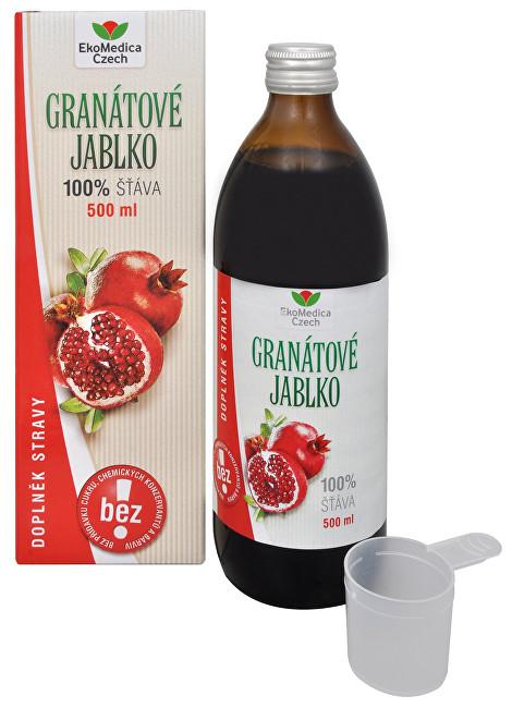 Zobrazit detail výrobku EkoMedica Czech Granátové jablko - 100% šťáva z granátového jablka 500 ml